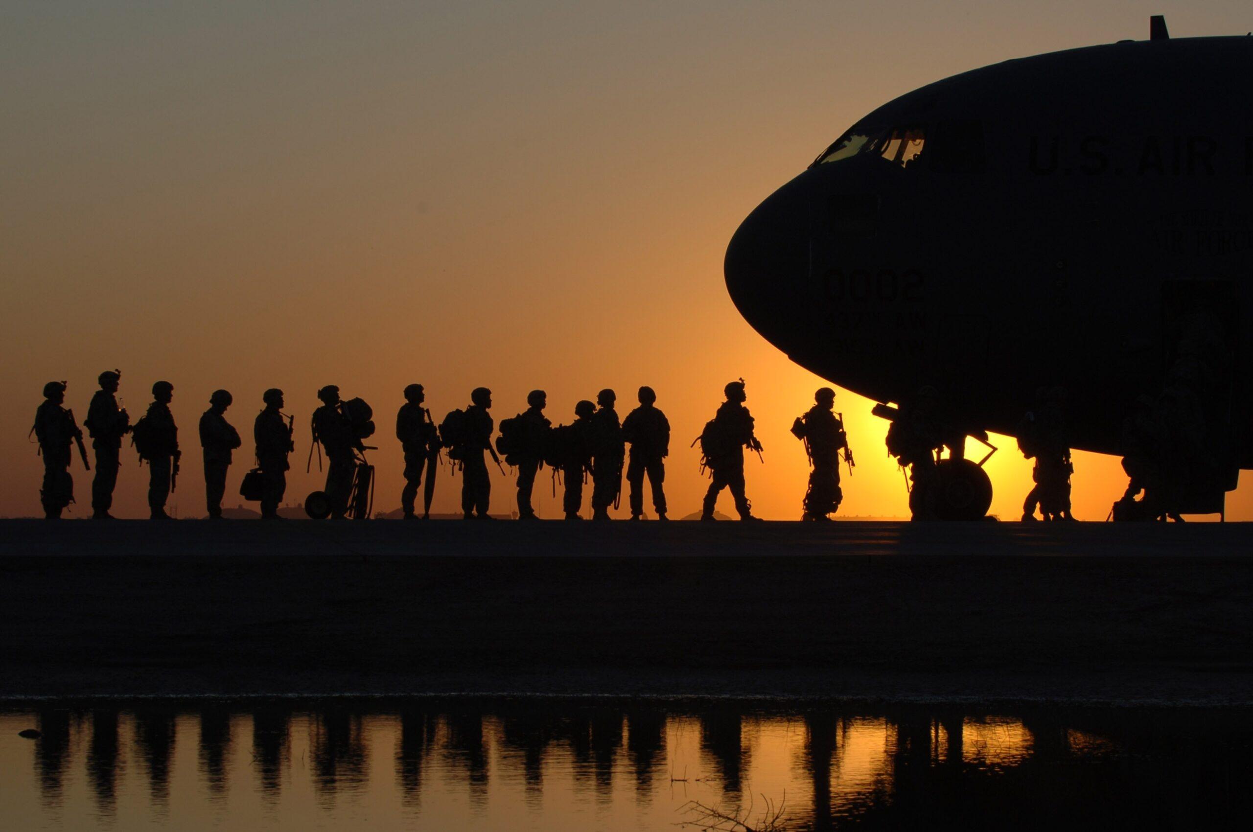 Military Training at Sunset